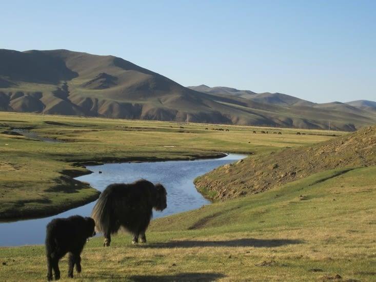 Le groupe des filles a aussi la chance de voir des paysages superbes