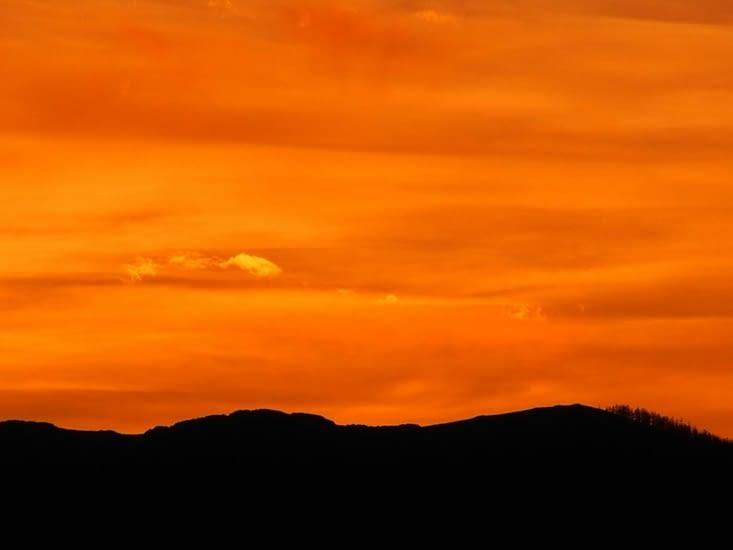 Lueurs du soir sur la vallée de l'Orkhon