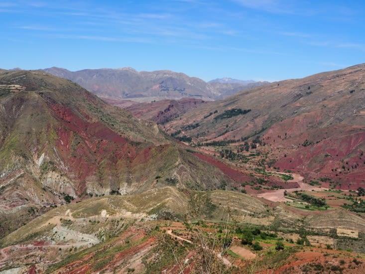 La vue depuis le chemin de l'inca