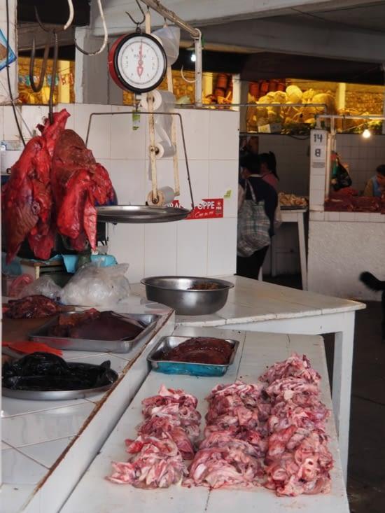 Marché de Sucre - le stand de viande