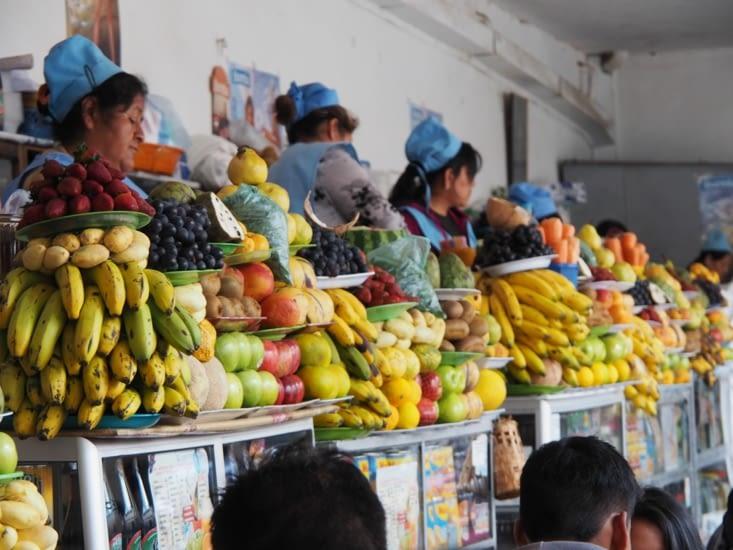 Marché de Sucre - Les stands de jus de fruit