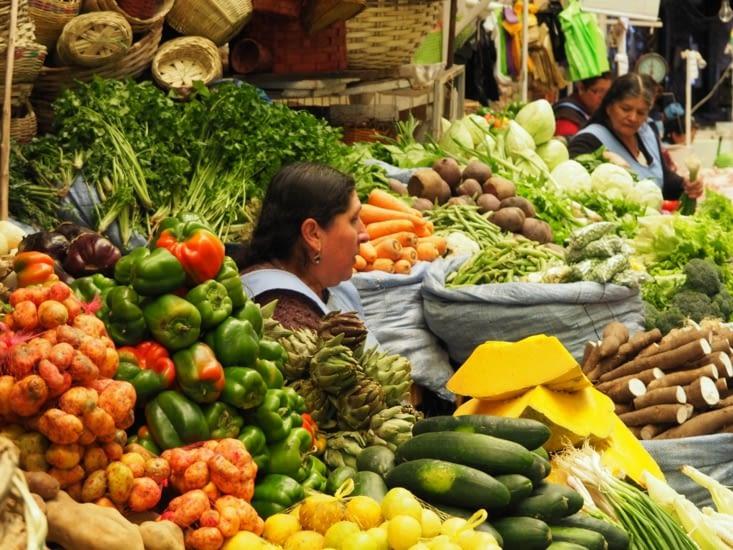 Marché de Sucre - Un stand de légume