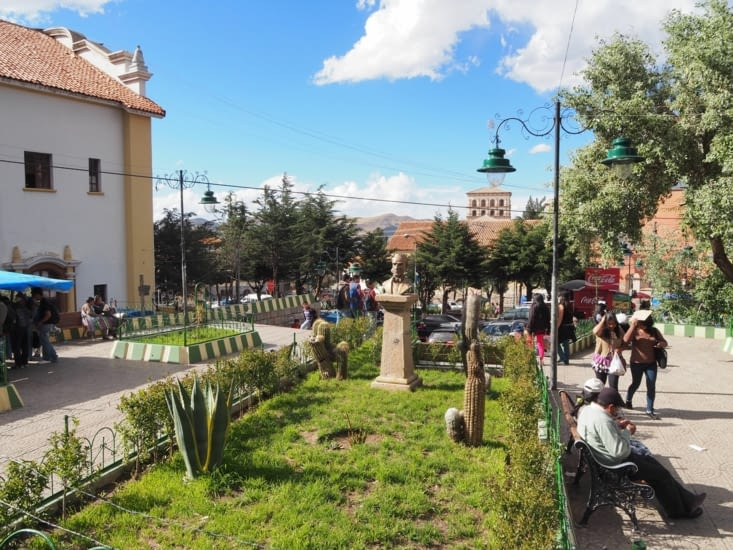 Les parcs citadins au centre de Potosi