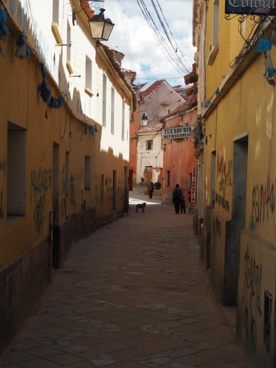 Les rues escarpées de Potosi
