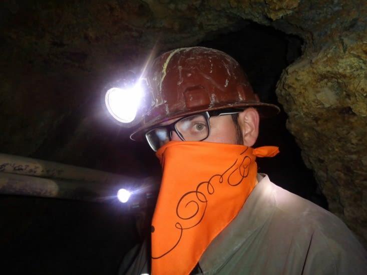 Ronron à l'intérieur des tunnels de Potosi