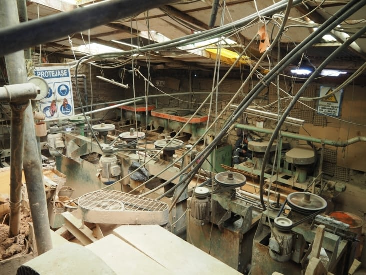 Salles des machines de la mine de Potosi