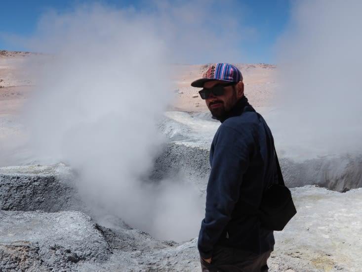 François devant les geysers sol de mañana
