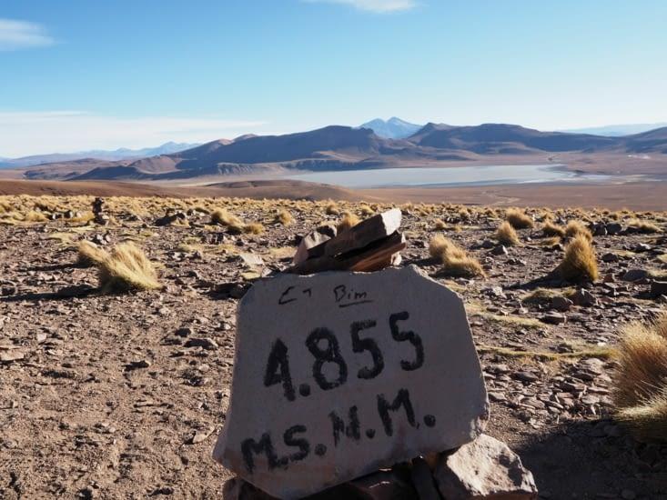 Passage d'un col à 4855m d'altitude