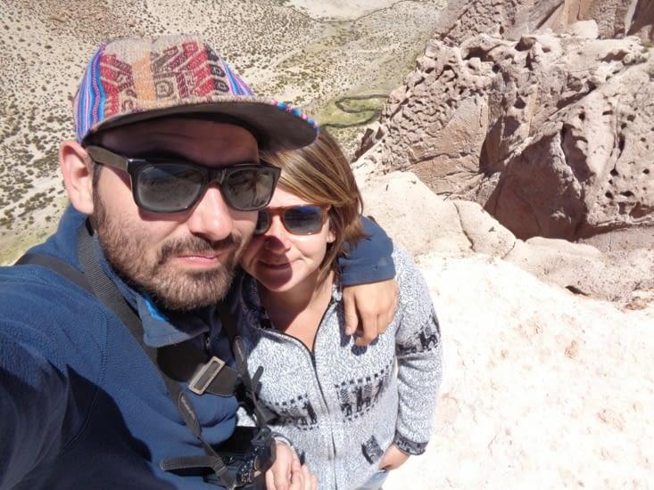Selfie devant le canyon de l'anaconda