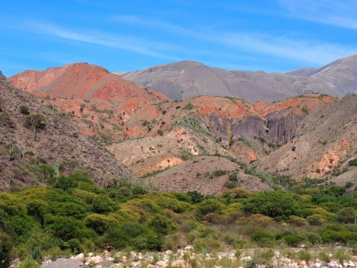 Des paysages colorés typiques de l'Argentine du nord