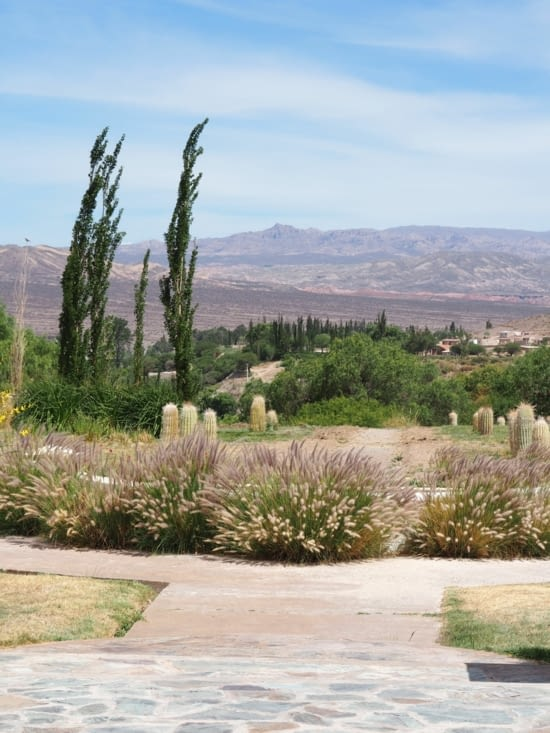 La vue depuis notre hôtel la Merced del Alto à Cachi