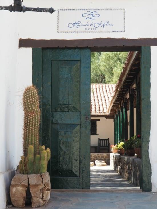 L'entrée de l'Hacienda de Isasmendi  à Molinos