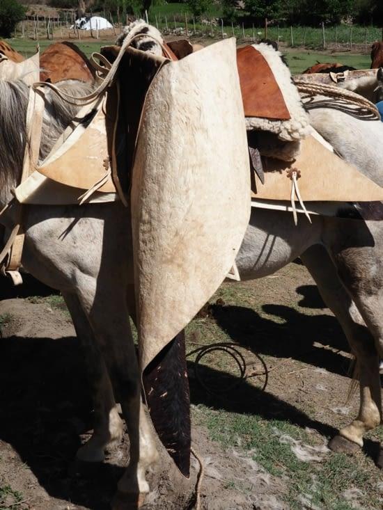 Les selles typiques des gauchos argentins