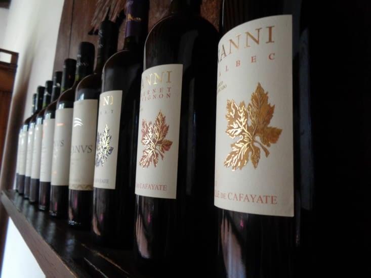 Les vins de la bodega Nanni