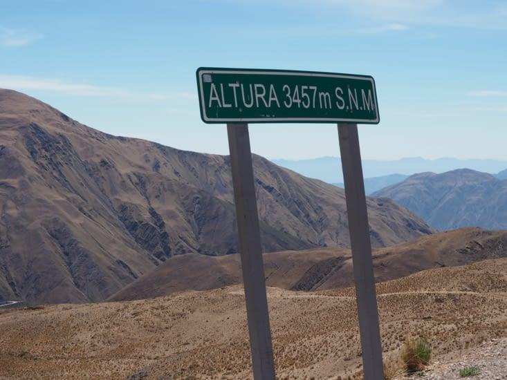 Passage d'un col à 3457m d'altitude