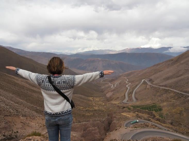 La vue sur la vallée depuis le plus haut point de notre périple