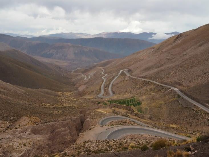La vue sur la vallée du plus haut point de la journée