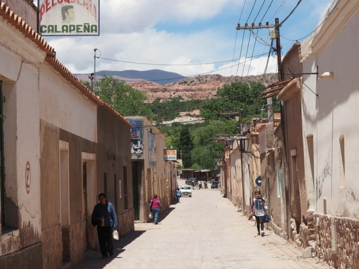 Les rues de la ville d'Humahuaca