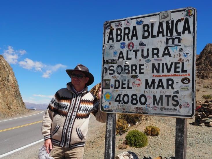 Passage d'un col à 4080m d'altitude