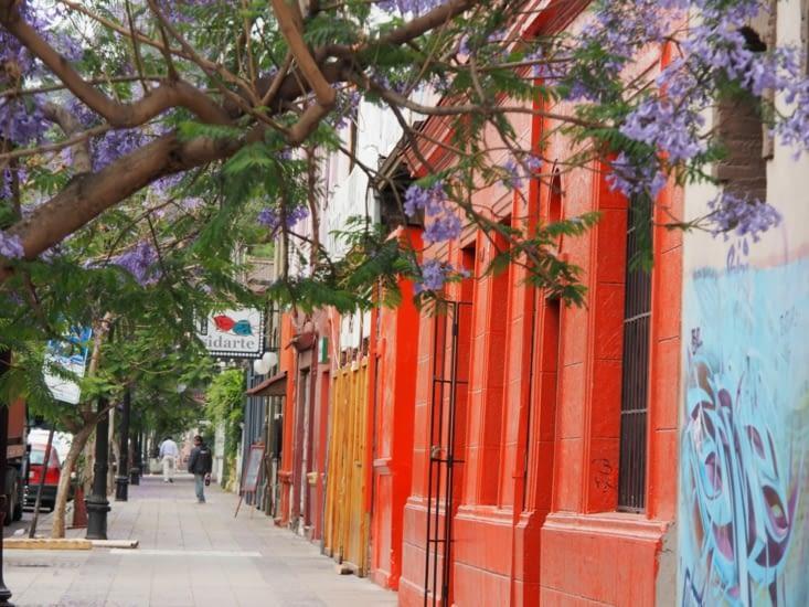 Les rues multicolores de Santiago