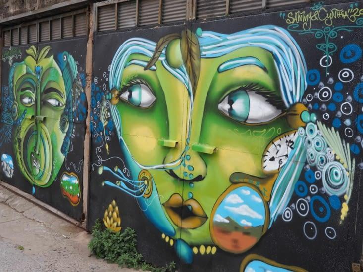 Graffiti rencontré sur la Calle Alemania