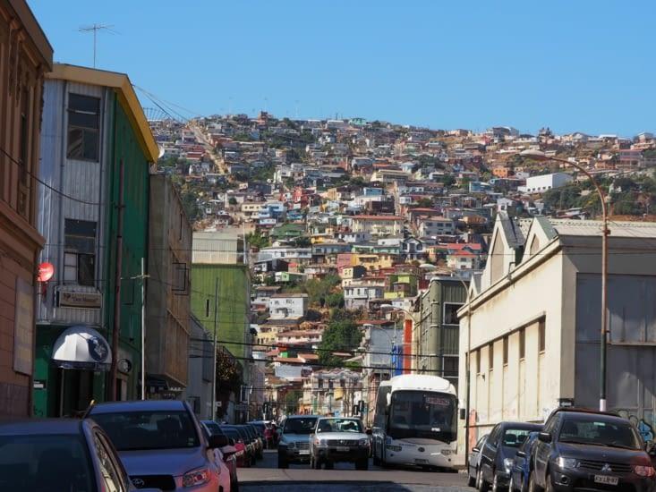 La colline colorée de Valparaiso
