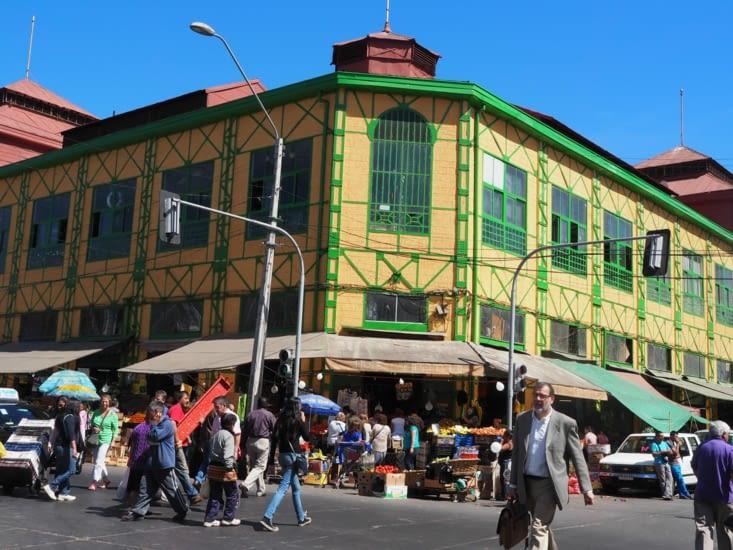 Le marché central de Valparaiso