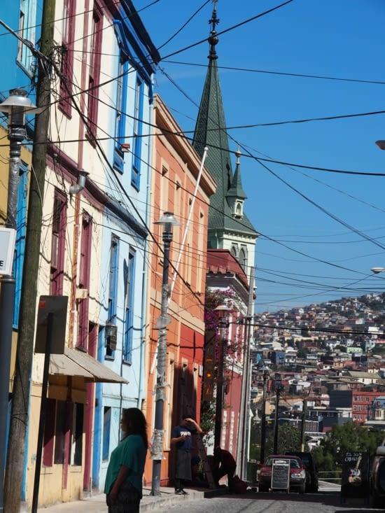 Panache de couleurs des rues de Valparaiso
