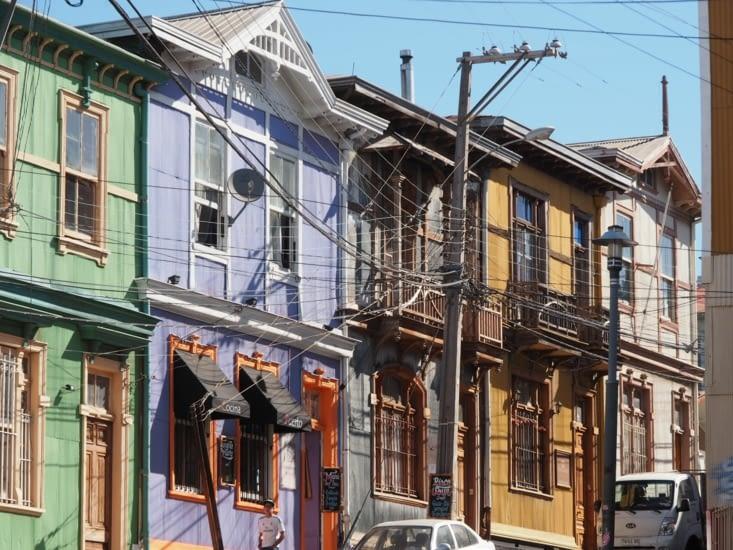 Patchwork de peinture à Valparaiso