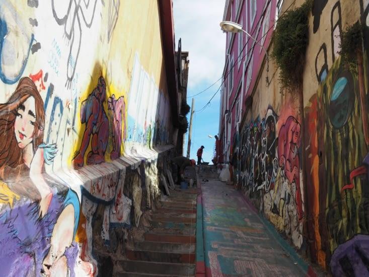 Ruelle peinte de Valparaiso