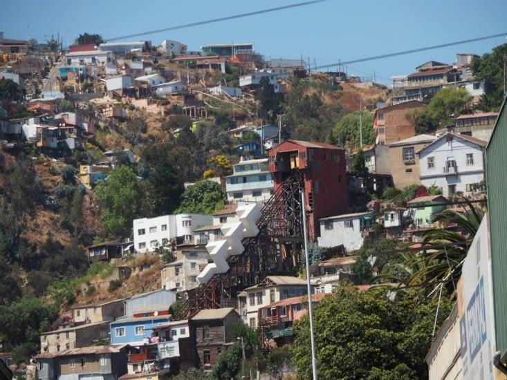 Un des ascenseurs de Valparaiso