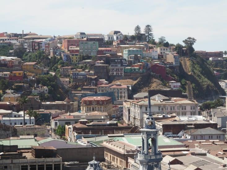 Un funiculaire grimpant la colline de Valparaiso