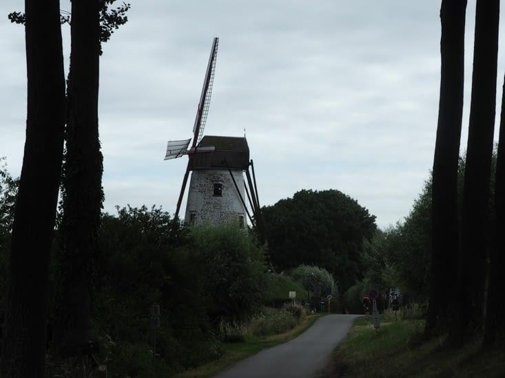Le premier moulin à vent rencontré sur notre chemin