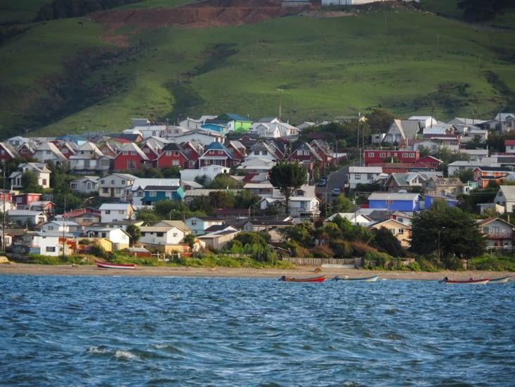 La ville d'Ancud sur les rives de l'océan pacifique