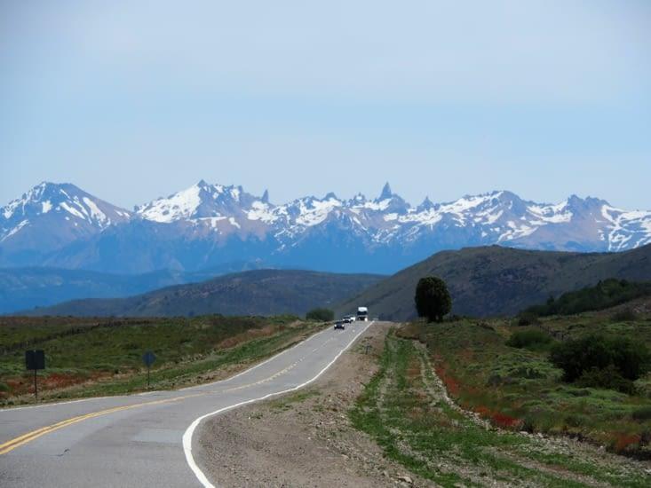 La route du retour sur Bariloche