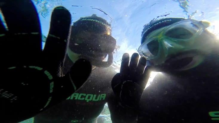 Selfie sous les eaux