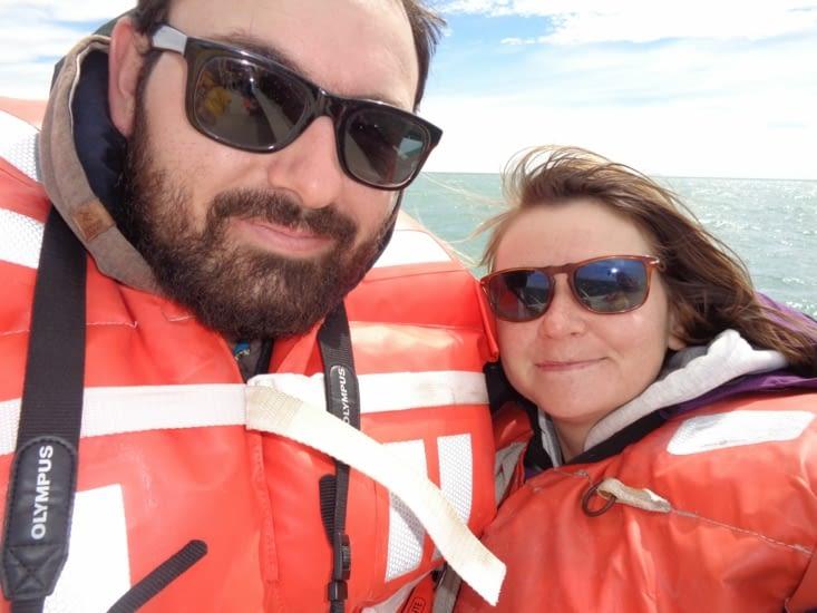 Selfie sur le bateau