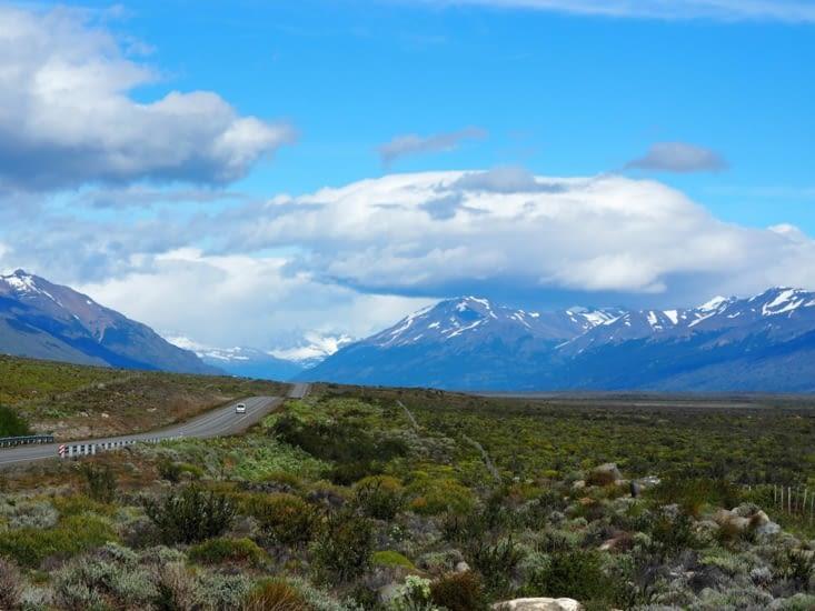 La route jusqu'au Perito Moreno