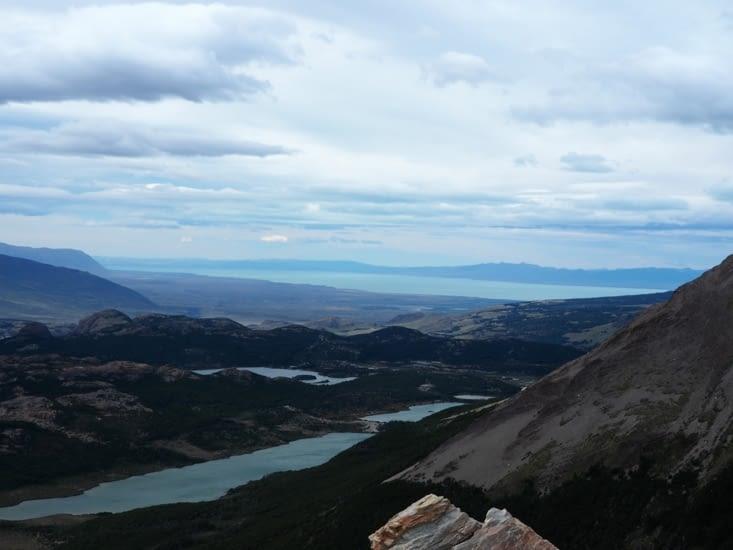 La vue sur la vallée depuis le point culminant de notre randonnée