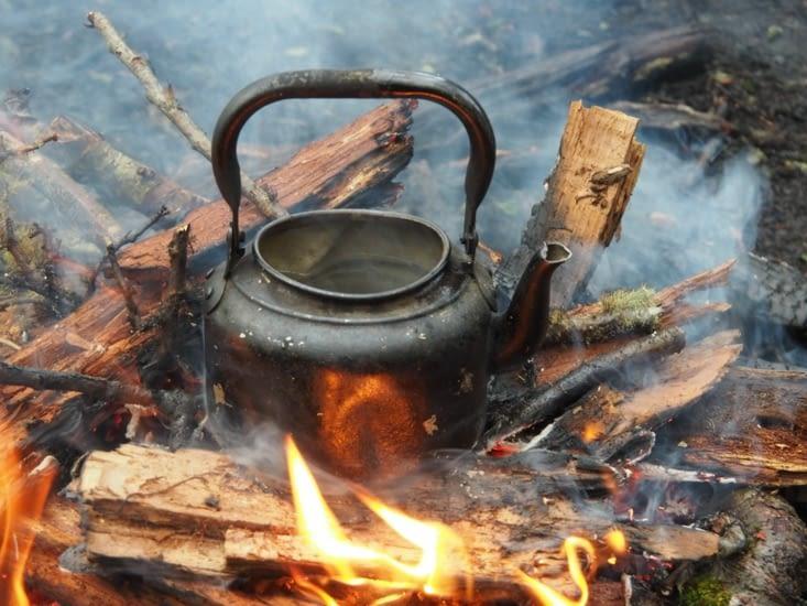 L'eau du mate chauffe à petit feu