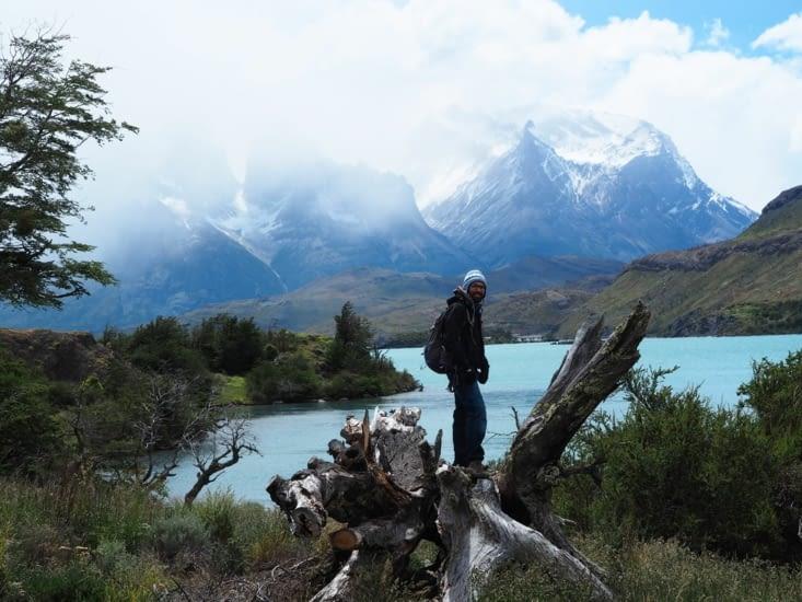 Ronron devant les Torres del Paine