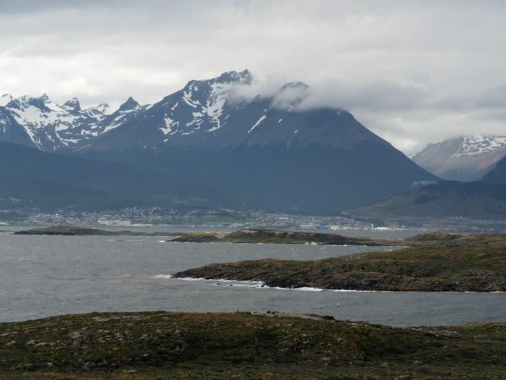 La vue sur Ushuaia depuis l'île