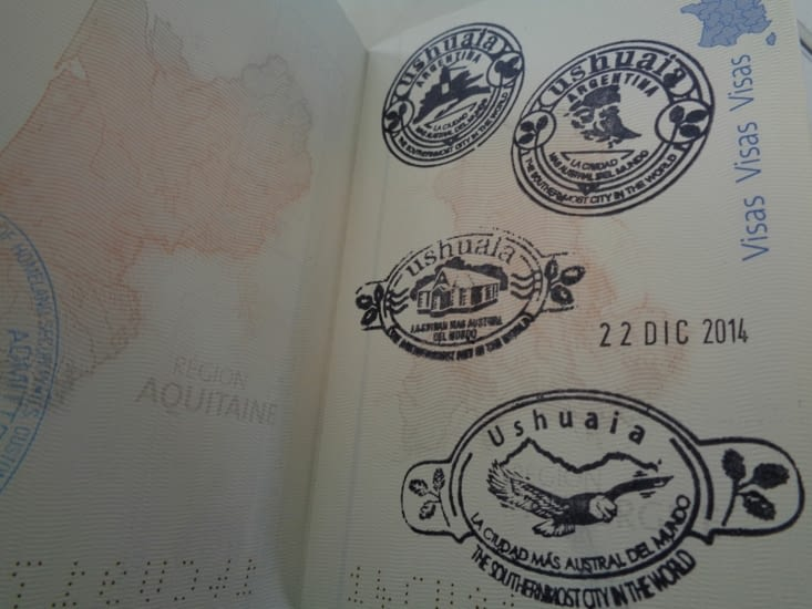 Nos passeports tamponnés