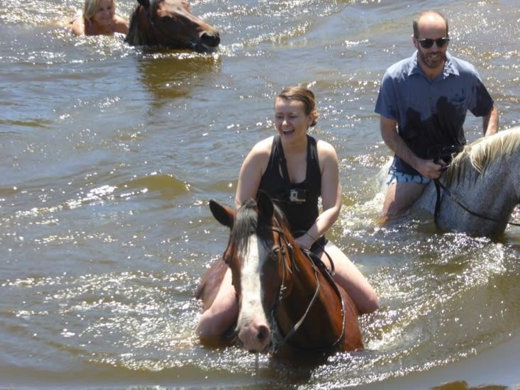 L'aqua-poney c'est rigolo