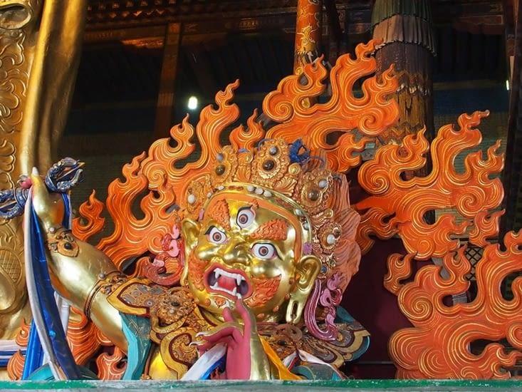 Statue de la représentation d'un bouddha