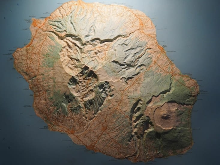 Les reliefs de l'ile de la Réunion