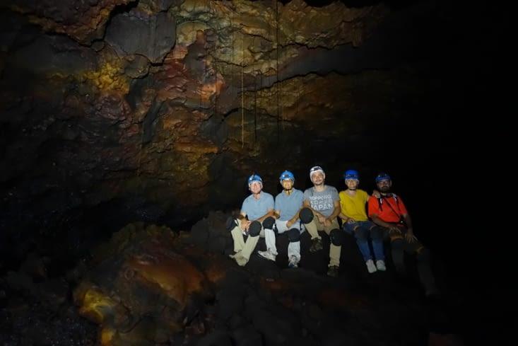 Dans le tunnel de lave