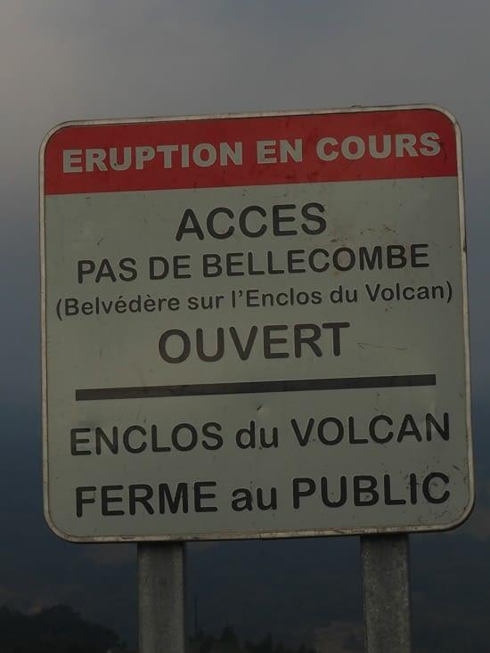 Enclos du volcan fermé