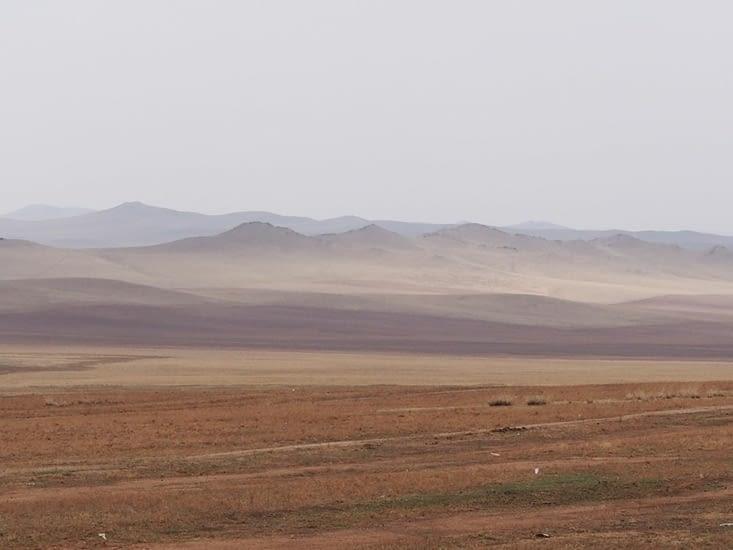Paysage en direction de Karakorum
