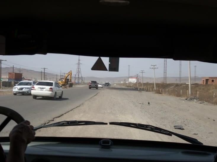 Sortie de Oulan Bator et ses routes difficiles